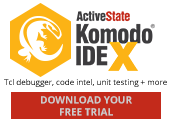 KomodoIDE Tcl debugging, code intel, unit testing + more